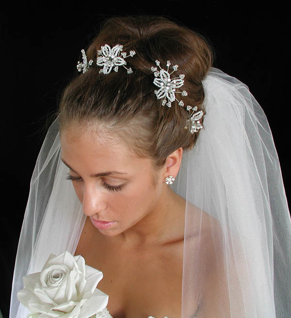 Wedding Hairstyles With Headpieces: Swarovski Crystal