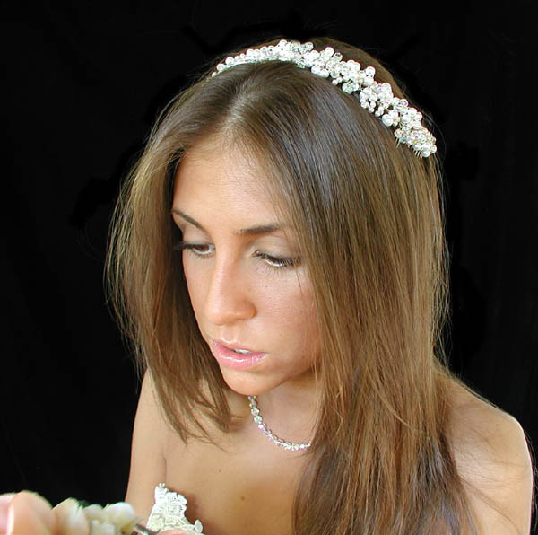 Versatile Wedding Headbands and Wedding Halos for the entire bridal party