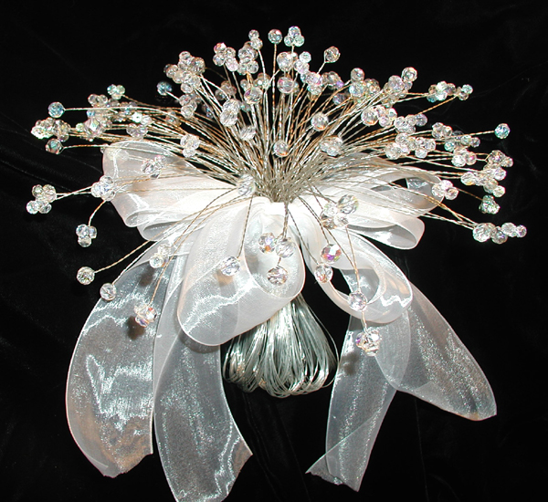 Our round crystal bouquets