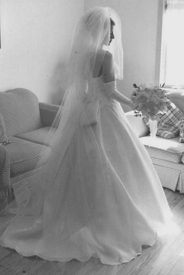 beautiful bridal gown veiled story